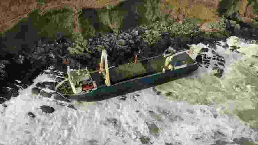 O navio de 80 metros foi visto pela última vez a milhares de quilômetros de distância em 2019 - Guarda Costeira da Irlanda/PA