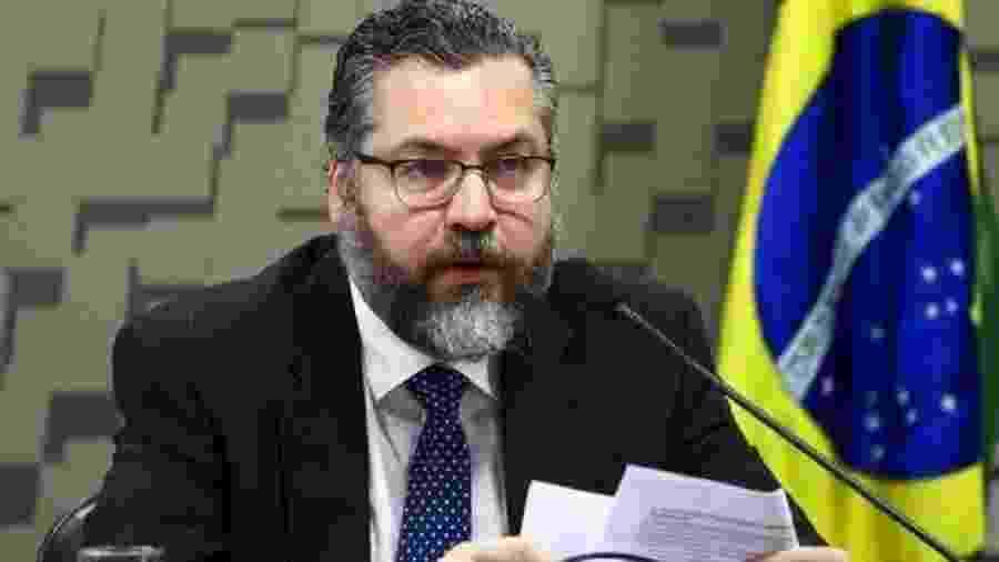 Chanceler Ernesto Araújo destacou números de redes sociais de eventos promovidos pelo Itamaraty - MARCELO CAMARGO/AG. BRASIL