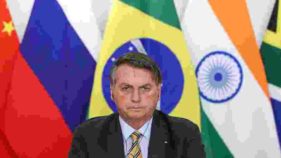 O presidente Jair Bolsonaro durante reunião da XII Cúpula de Líderes do BRICS, em novembro - Marcos Corrêa/PR