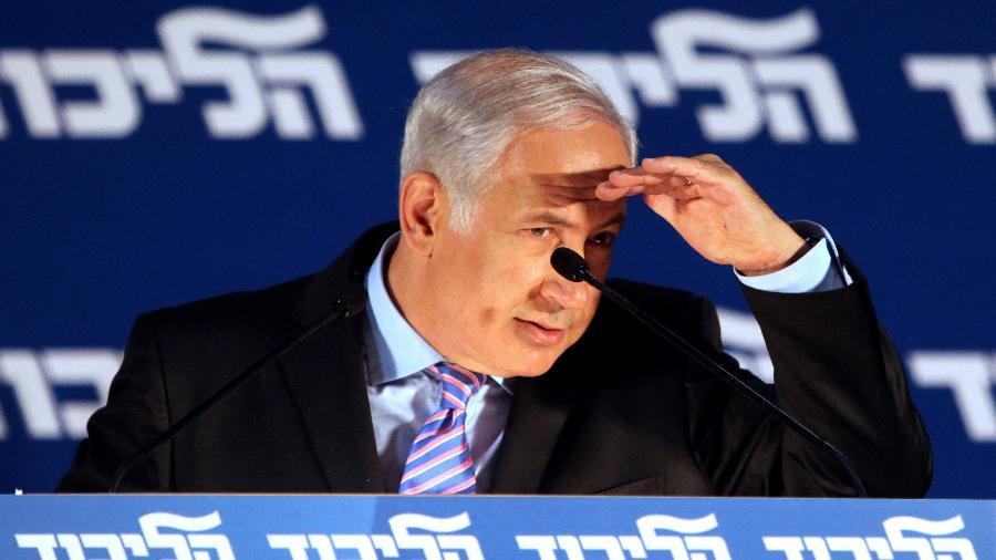 O primeiro-ministro de Israel, Benjamin Netanyahu, durante evento em Tel Aviv - 31.mai.2021 - Nir Elias/Reuters