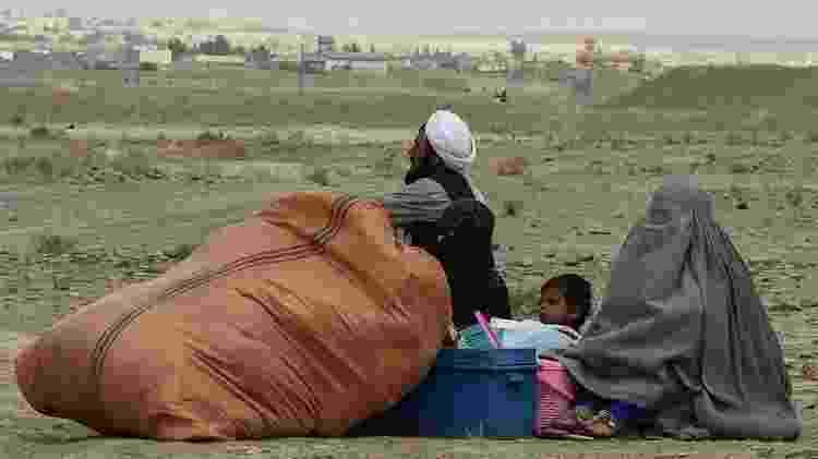 Algumas famílias fugiram antes do avanço do Talebã - Getty Images - Getty Images
