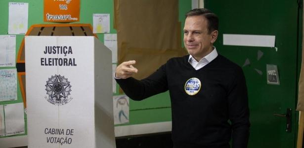 Candidato a prefeito de São Paulo, João Doria (PSDB), teve votação expressiva