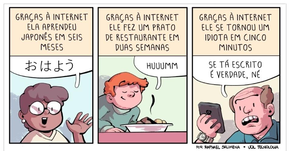 """21.jan.2017 - """"Graças à internet"""""""