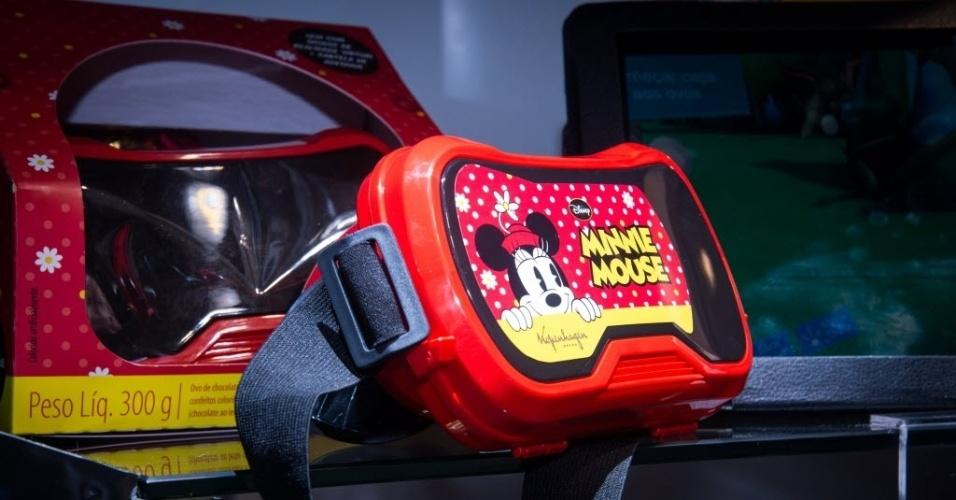 O óculos de realidade virtual é um dos brindes disponíveis da Kopenhagen. O produto acompanha o ovo de chocolate ao leite de 300g e tem preço sugerido de R$ 115,90