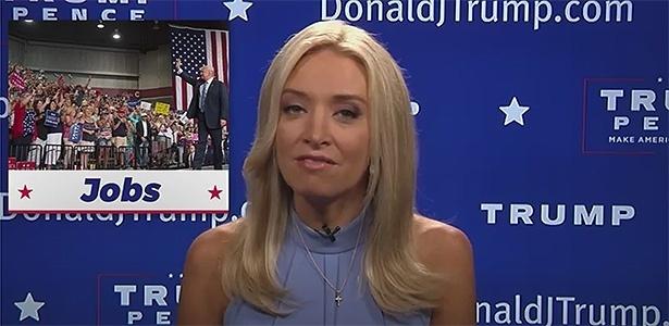 A comentarista conservadora Kayleigh McEnany é a nova porta-voz do Partido Republicano e apresentadora das notícias na página pessoal do presidente