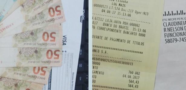 Telefonista deu exemplo ao pagar boleto e devolver troco após encontrar R$ 600