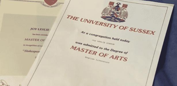 Joy tem cinco diplomas e está está perto de obter o sexto - BBC - BBC