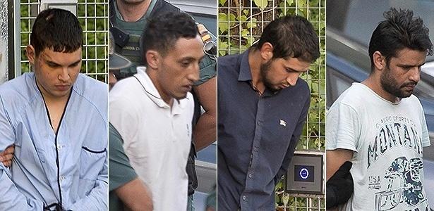 Mohamed Houli Chemlal, Driss Oukabir, Salah El Karib e Mohamed Aallaa - AFP