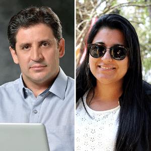 Os detetives Wanderson Castilho e Luciana Leonel