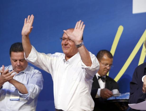 O governador Geraldo Alckmin durante evento do PSDB no início de dezembro