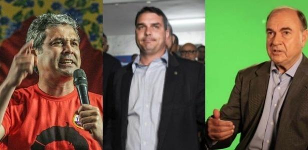 Lindbergh Farias, Flávio Bolsonaro e Cesar Maia