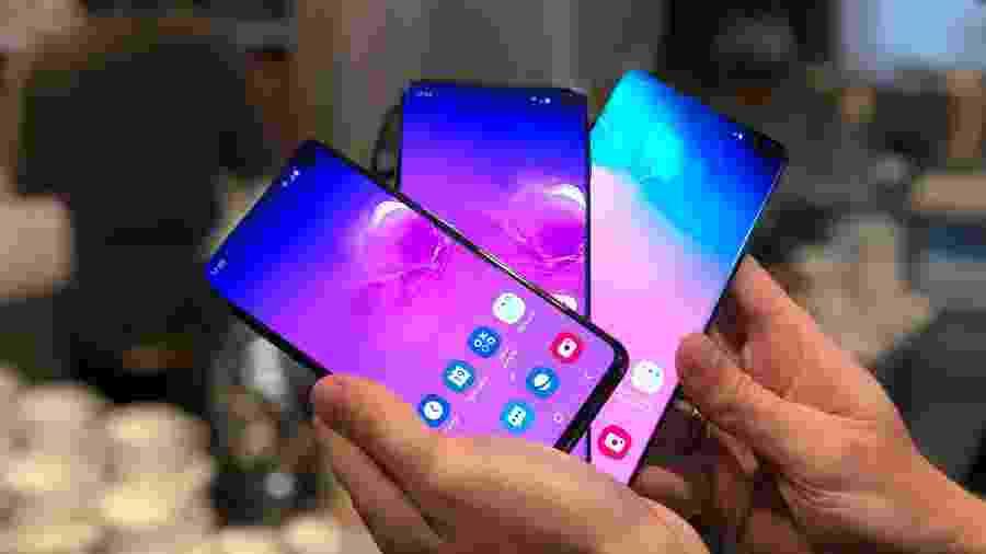 Galaxy S10: novos aparelhos da família de smartphones top da Samsung - Gabriel Francisco Ribeiro/UOL