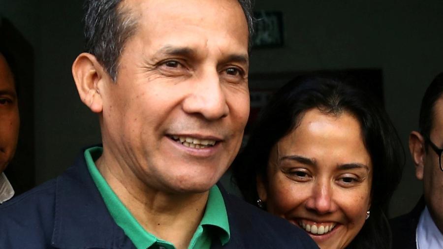 13.jul.17 - O ex-presidente do Peru, Ollanta Humala, e a então primeira-dama, Nadine Heredia - Guadalupe Pardo/Reuters