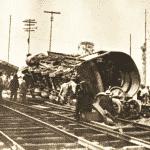 Locomotiva virada nos combates de 1924 em SP - Acervo Carlos Cornejo