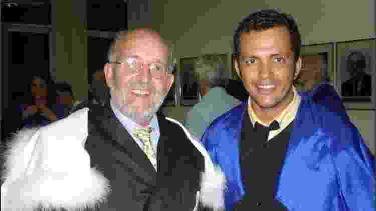 Também em 2006 pesquisador José Dias ao lado do professor Michel Mayor - Arquivo/UFRN