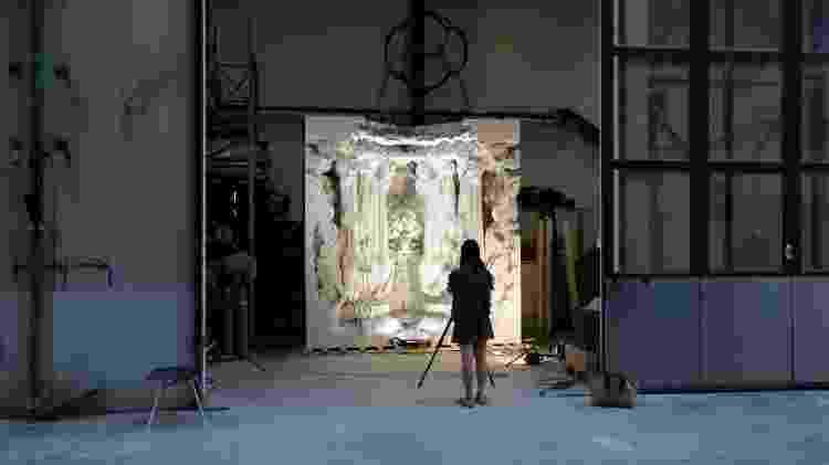 Montagem da obra Digital Grotesque, criada com impressora 3D - Divulgação