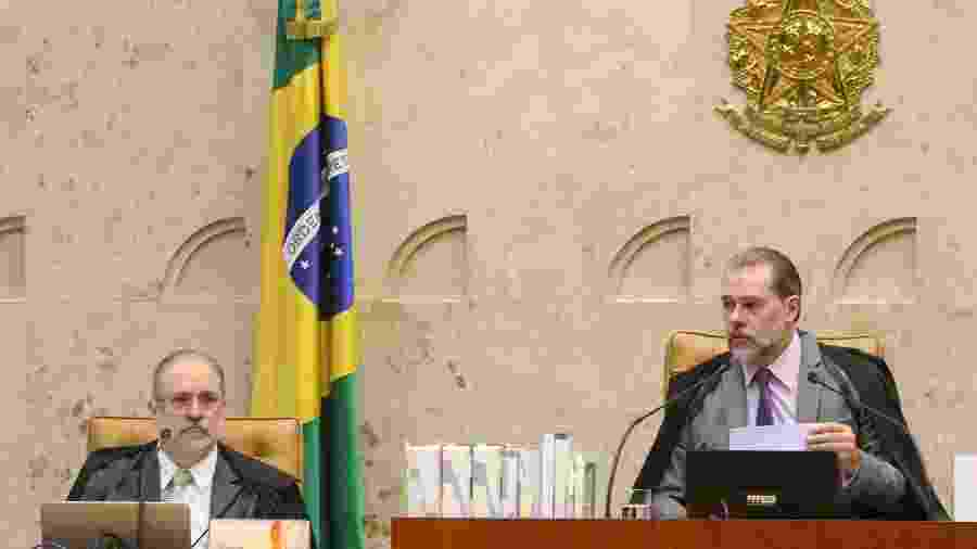 Aras (esq.) e Toffoli receberam manifestação pela manutenção do e-Proc - Nelson Jr./SCO/TF