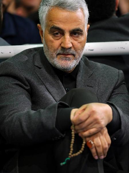 Foto de março de 2015 mostra o general iraniano Qassem Soleimani, morto em um atentado dos EUA durante a madrugada de hoje - KHAMENEI.IR/AFP