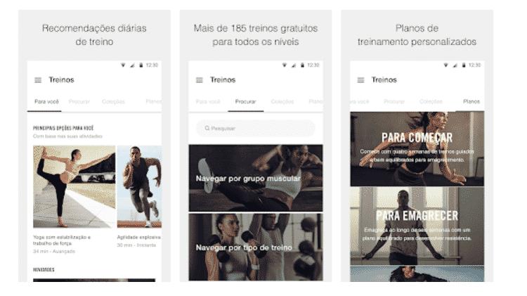 Nike Training Club - Veja apps que ajudam na rotina de exercícios - Reprodução - Reprodução