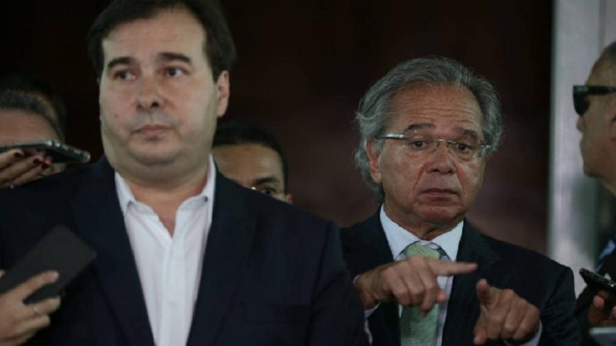 O presidente da Câmara dos Deputados, Rodrigo Maia, e o ministro da Economia, Paulo Guedes - Foto: Pedro Ladeira - 5.fev.19/Folhapress