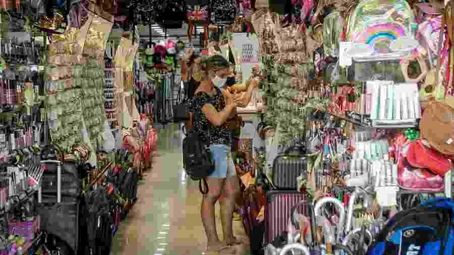 Comércio popular de Belo Horizonte voltou a funcionar já na primeira fase de flexibilização - Reprodução/TJMG