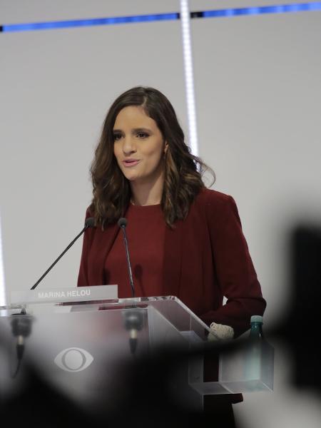 A candidata da Rede à Prefeitura de São Paulo, Marina Helou - Kelly Fuzaro/Band