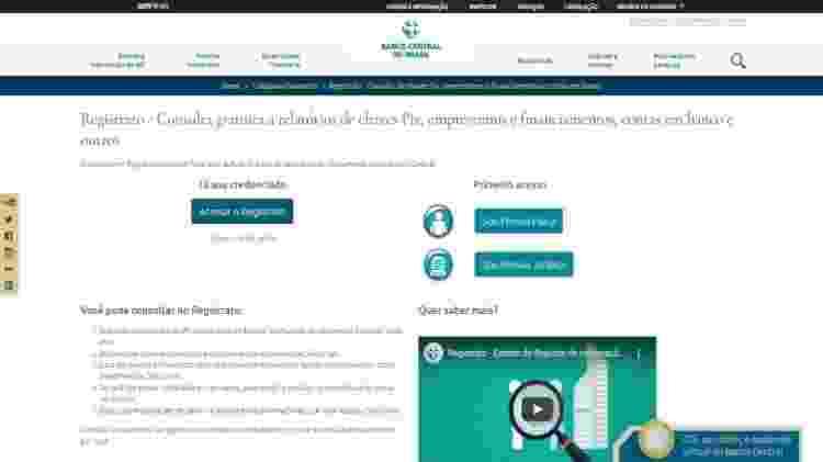 Registrato acesso - Reprodução - Reprodução