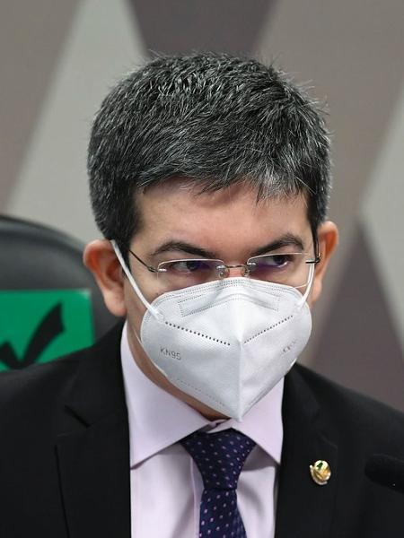 O senador Randolfe Rodrigues (Rede-AP), durante sessão da CPI da Covid - Jefferson Rudy/Agência Senado