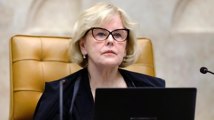 10.dez.2020 - A ministra Rosa Weber, do STF, durante sessão plenária por videoconferência - Rosinei Coutinho/SCO/STF