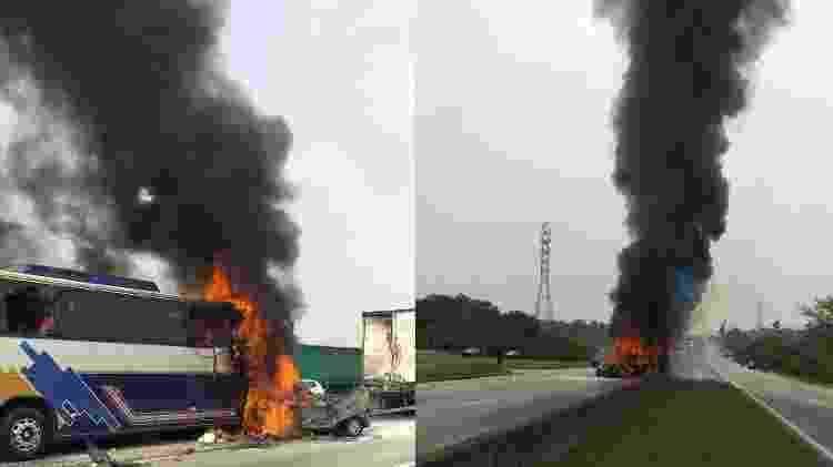 incêndio - Divulgação/PRF - Divulgação/PRF