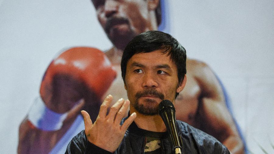 Manny Pacquiao vai se candidatar à presidência - Ted Aljibe/AFP
