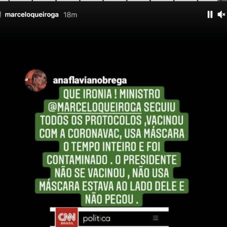 Instagram de Marcelo Queiroga - Reprodução