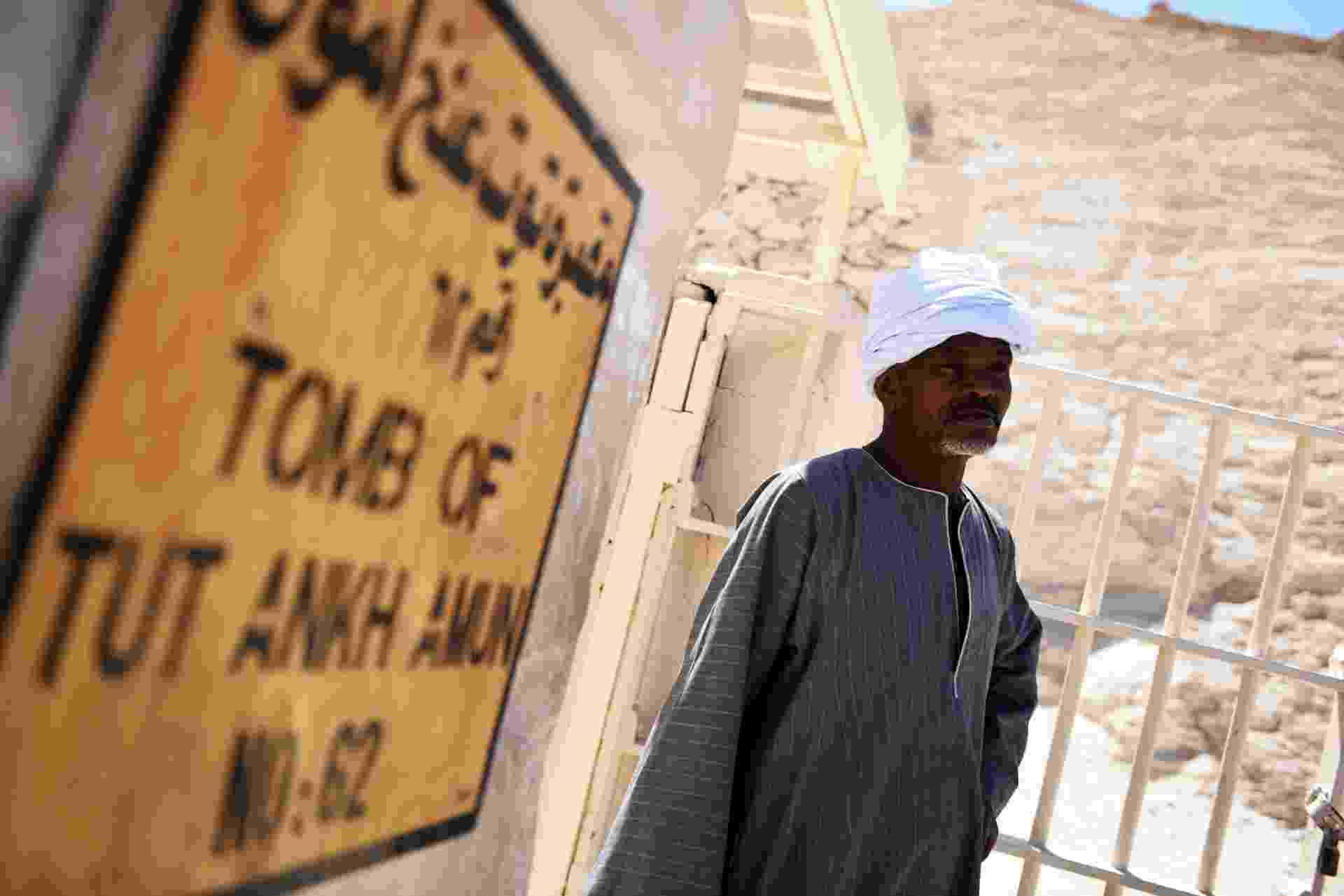 1.abr.2016 - Entrada da tumba de Tutancâmon, no Egito - Mohamed El-Shahed/AFP Photo