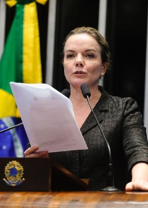 A senadora Gleisi Hoffmann (PT-PR)