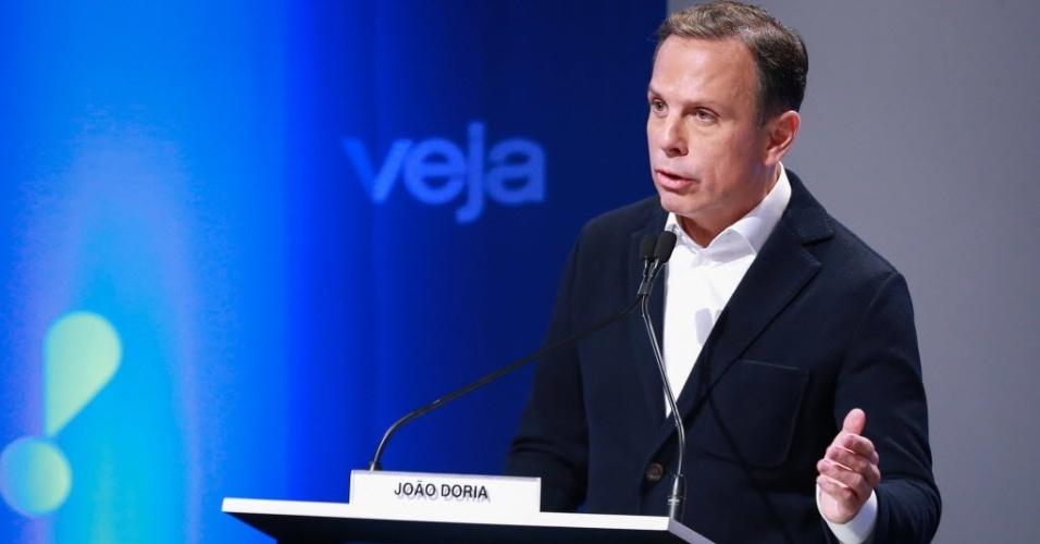 03.set.2016 - O candidato a prefeito de São Paulo João Doria (PSDB) durante o debate promovido pela RedeTV!