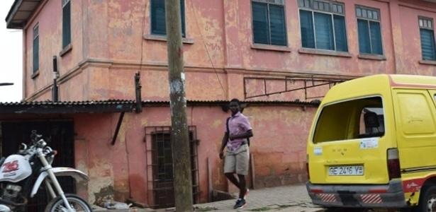 Fachada da falsa embaixada dos EUA em Acra