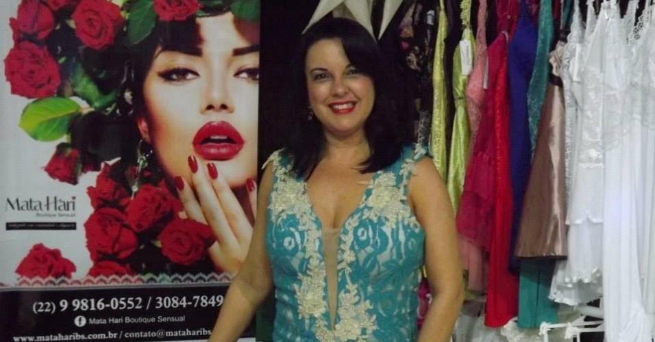 Leila Campos é dona da Mata Hari Boutique Sensual, que faz eventos sensuais e vende produtos eróticos