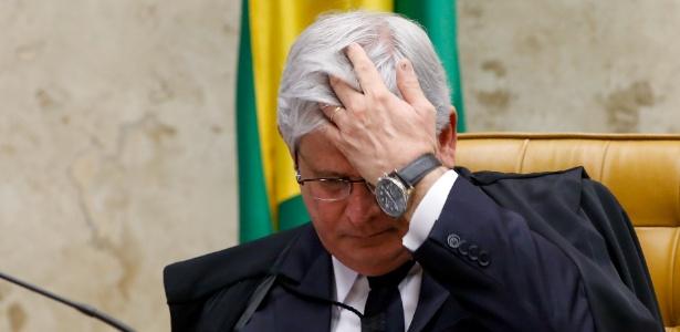 3.março.2016 - O procurador-geral da República, Rodrigo Janot, em sessão plenária do STF