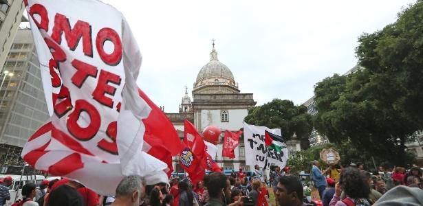 Manifestações no Rio contra Temer - Marco Antonio Teixeira/ UOL