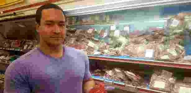 O americano Ian McClannan no açougue The Butcher Shop, em Arlington (EUA) - Arquivo pessoal