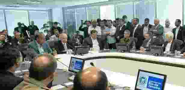 Presidente Michel Temer discute intervenção no Rio com autoridades - Divulgação