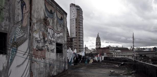 Edifício de ocupação no centro de São Paulo