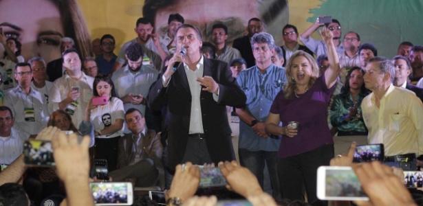 Bolsonaro discursa durante ato de pré-campanha em São Luís, no Maranhão