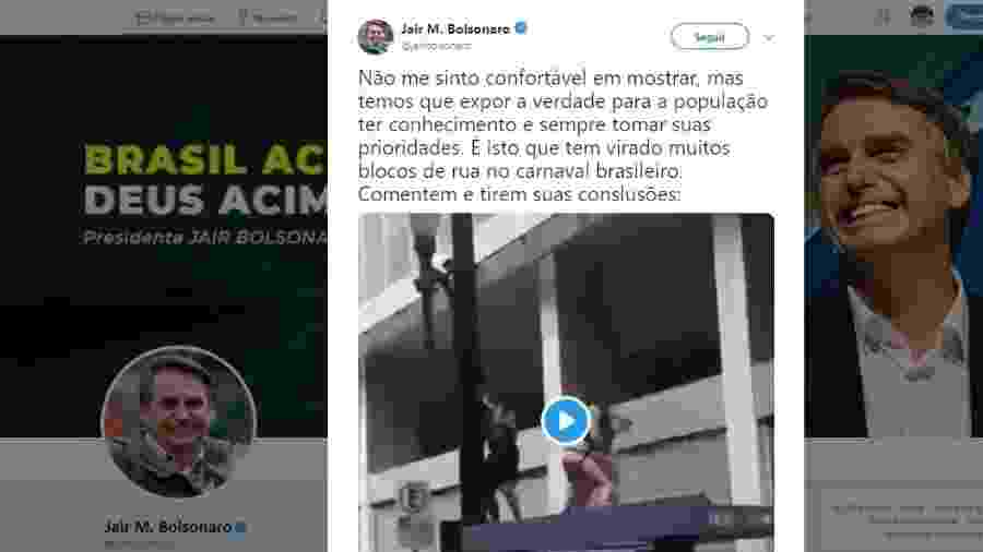 Reprodução/Twitter Jair Bolsonaro