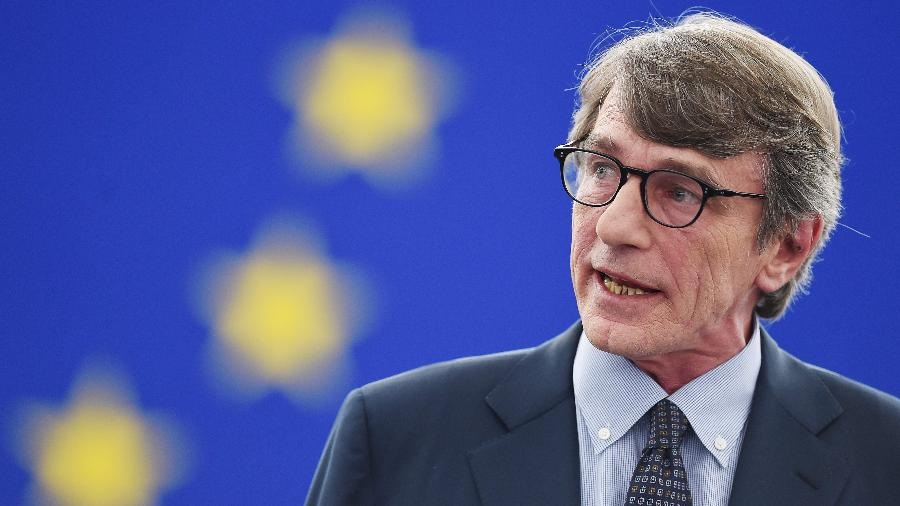 O presidente do Parlamento Europeu, David Sassoli, anunciou que o acordo foi aprovado por 660 votos a favor - Frederick Florin/AFP