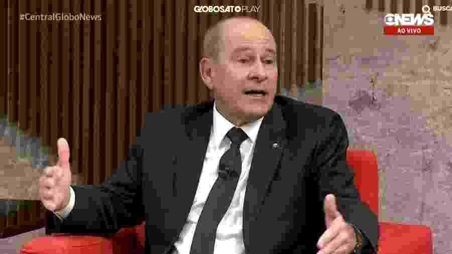 Fernando Azevedo e Silva durante entrevista para a Globo News - Reprodução/Globo News