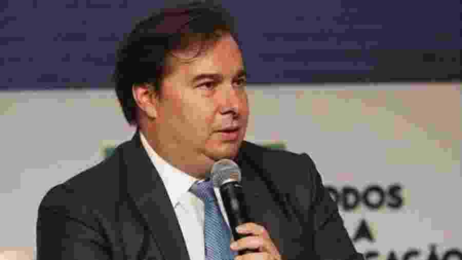 O presidente da Câmara dos Deputados, Rodrigo Maia, participou de evento do Todos Pela Educação em Brasília - Reprodução - 9.mar.2020/Instagram/rodrigomaiarj