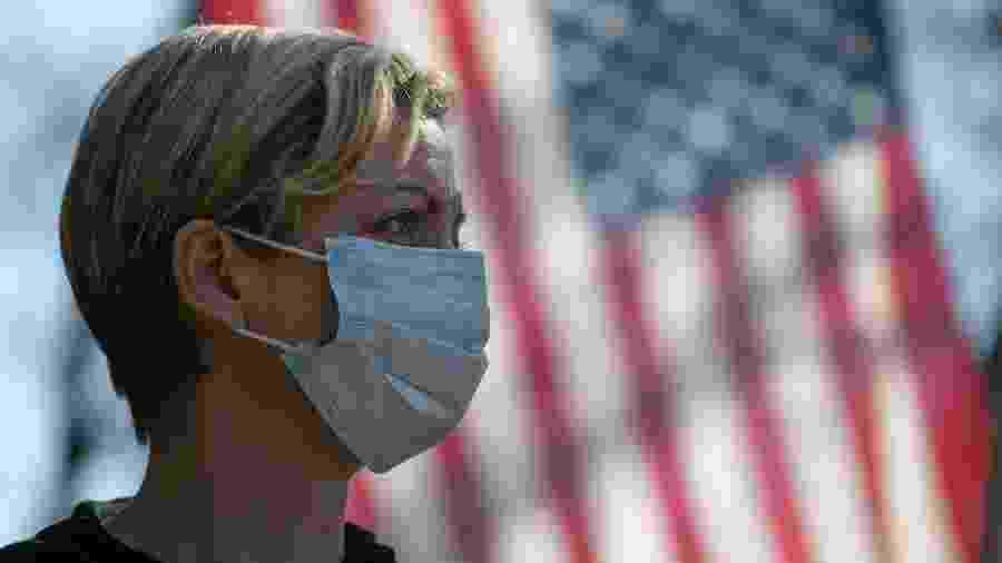 O estado de Nova York, considerado o epicentro norte-americano do vírus, bateu hoje novo recorde de óbitos - John Moore/Getty Images