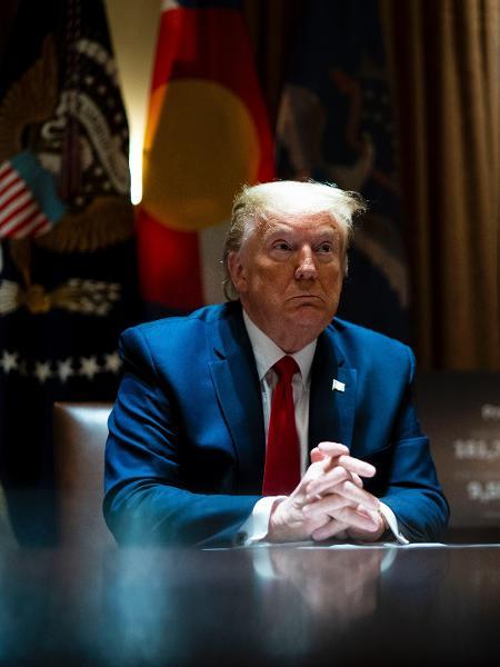 """Trump disse que está """"ok"""" com a renúncia do diretor-geral da Organização Mundial do Comércio (OMC), Roberto Azevêdo - Pool / Getty Images"""