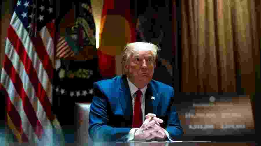 13.mai.2020 - Donald Trump na Casa Branca - Pool / Getty Images